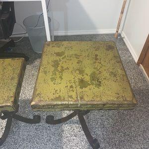 Antique Jan Barboglio wood side tables
